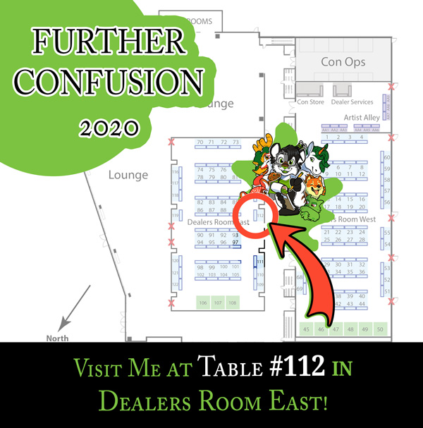 Visit Me at Further Confusion 2020!