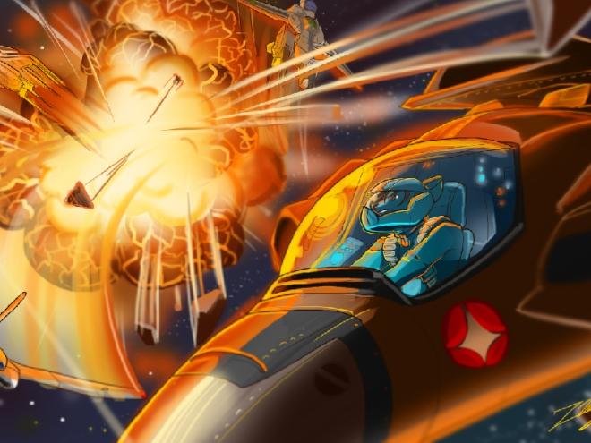 Macross Battle Desktop Wallpaper - 1024x768