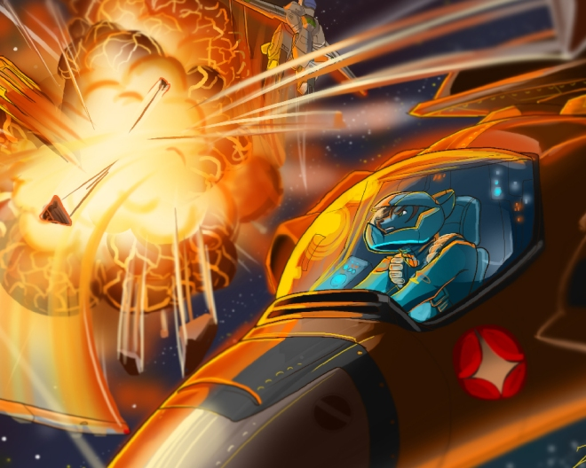 Macross Battle Desktop Wallpaper - 1280x1024