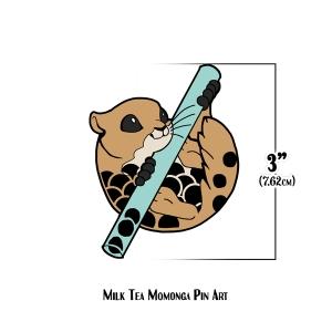 Milk Tea Momonga Pin Art