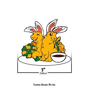 Tempura Bunnies Pin Art